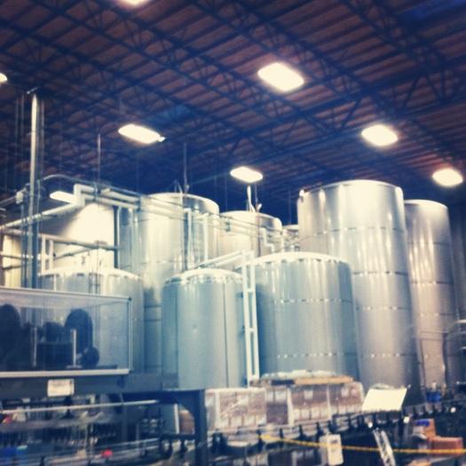 Stone Brewery Fermentation Tanks