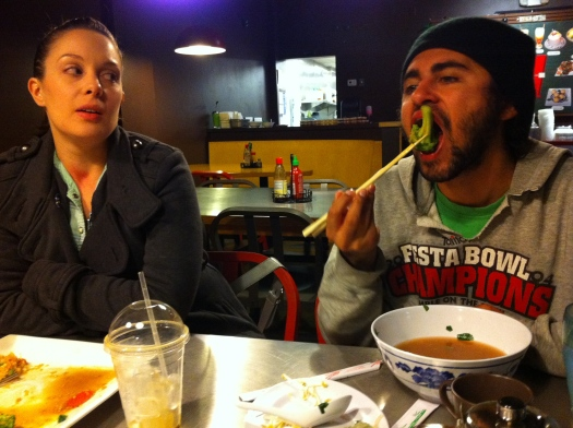 Rachel and Jer at Pho City
