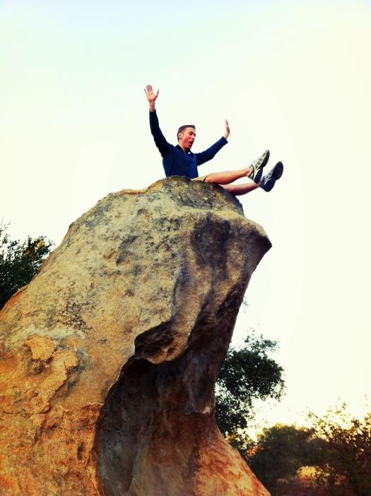 Ian on Boulder