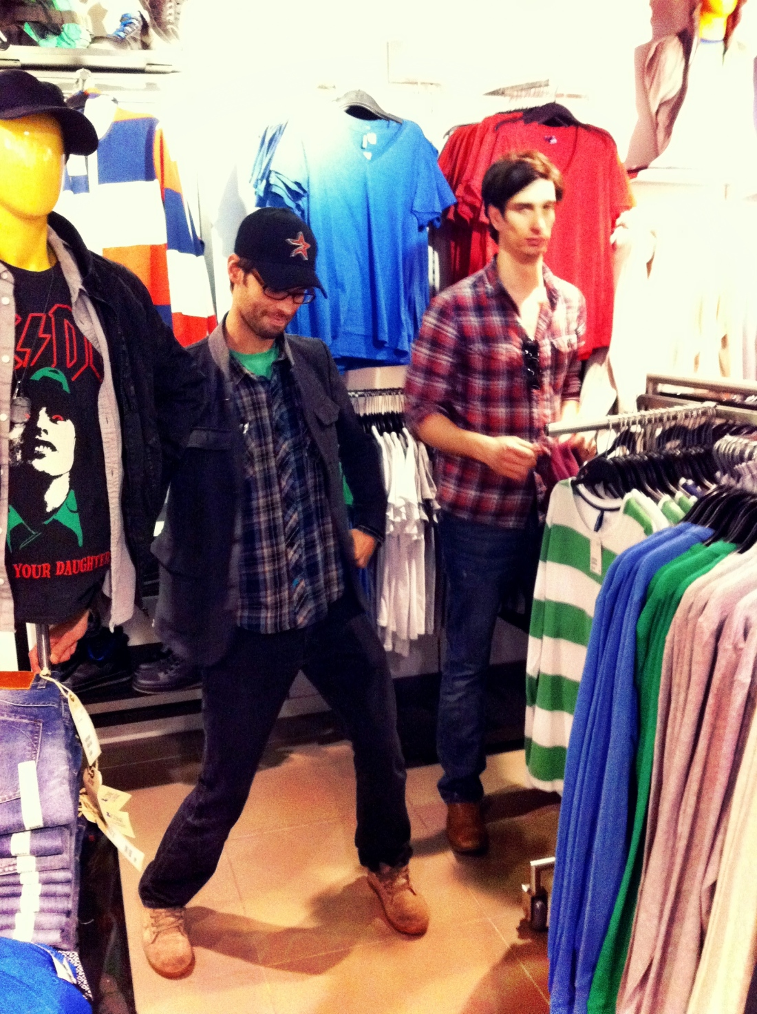 Justin and Dan at H+M