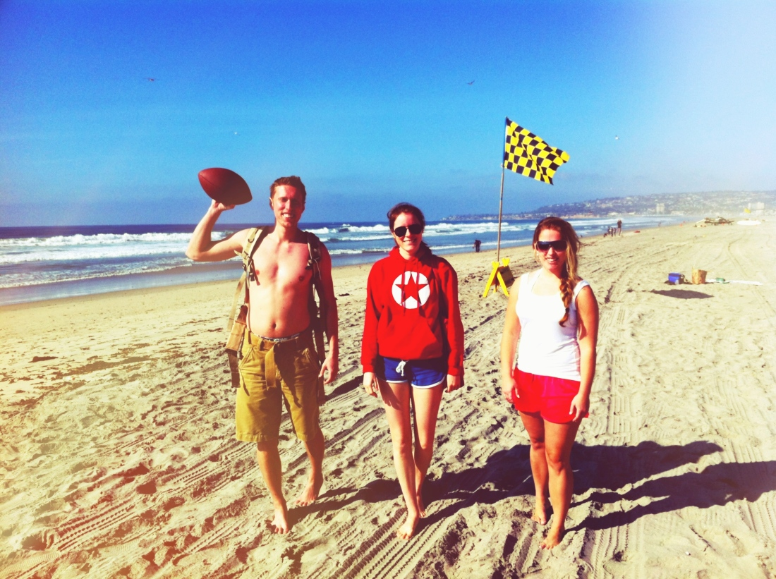 Ian, Bree and Dana on Mission Beach