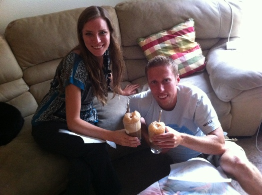 Bree and Ian with Rootbeer Floats