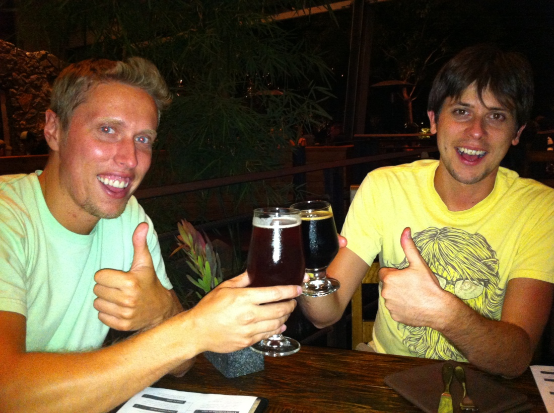 Ian and Joel with Brews