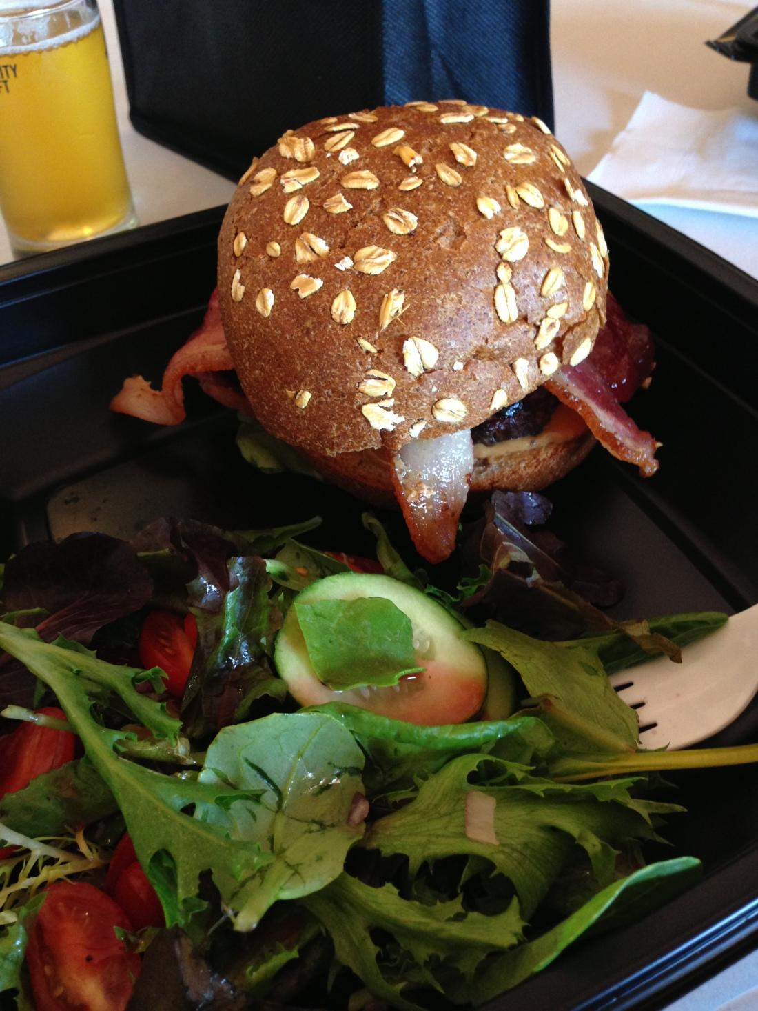 Slater's 50/50 Peanut Butter & Jeallousy Burger