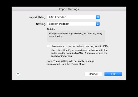 1 iTunes Import Prefs